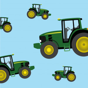 Five little tractors
